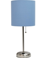 Limelights 19.5 in. Blue Stick Lamp with Charging Outlet