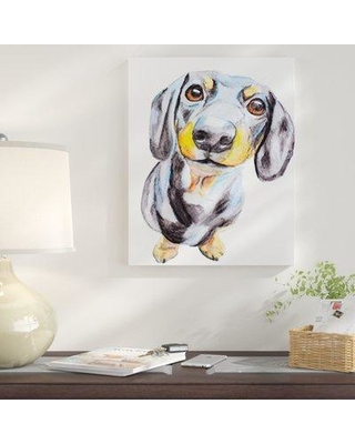 "East Urban Home 'Dachshund' Graphic Art Print on Wrapped Canvas EUNM6986 Size: 48"" H x 32"" W Format: Wrapped Canvas"