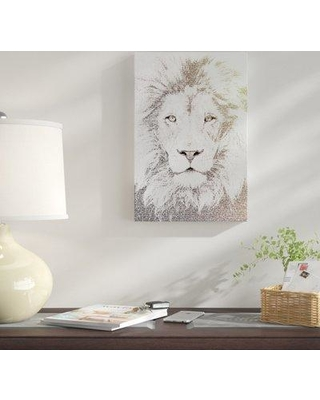 "East Urban Home 'The Intellectual Lion' Graphic Art Print on Canvas URHE1644 Size: 18"" H x 12"" W x 1.5"" D"