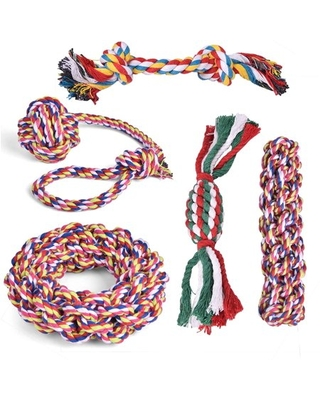 9 pcs Dog Rope Toy Dog Toys For Aggressive Chewers Puppy Toys