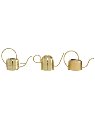 Set of 3 Glam Metal Planters Gold - Olivia & May