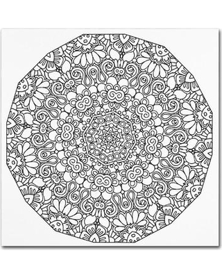 """Trademark Art """"Mixed Coloring Book 17"""" by Kathy G. Ahrens Graphic Art on Wrapped Canvas ALI3442-C Size: 24"""" H x 24"""" W x 2"""" D"""