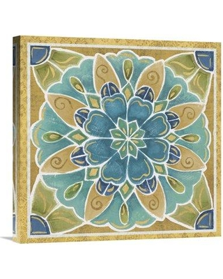 "East Urban Home 'Free Bird Mexican Tiles IV' Print EUHE4263 Size: 24"" H x 24"" W Format: Wrapped Canvas"
