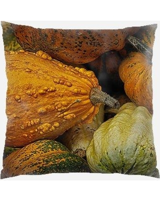 Sales On The Holiday Aisle Wolfson Pumpkins Indoor Outdoor Throw Pillow Polyester Polyfill Polyester Polyester Blend In Orange Size 18x18 Wayfair