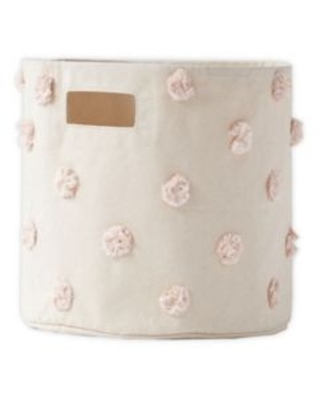 pehr Pom Pom Canvas Storage Bin in Blush
