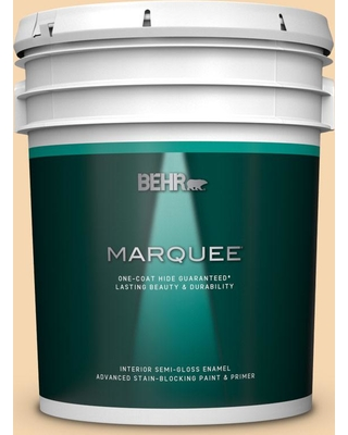 BEHR MARQUEE 5 gal. #330C-3 Clam Chowder Semi-Gloss Enamel Interior Paint and Primer in One