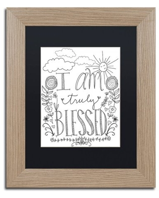 "Trademark Fine Art ""Truly Blessed"" Canvas Art by Elizabeth Caldwell, Black Matte, Birch Frame"