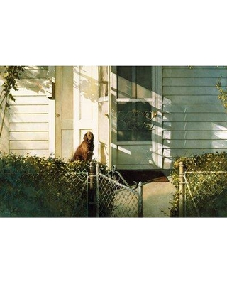 """August Grove Patiently Waiting Photographic Print on Wrapped Canvas ATGR5772 Size: 18"""" H x 26"""" W x 1.5"""" D"""