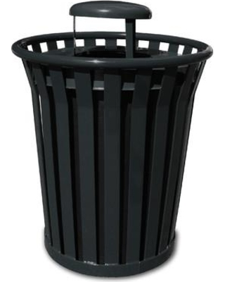 Witt Wydman Receptacle 36 Gallon Trash Can WC3600-RC Color: Silver