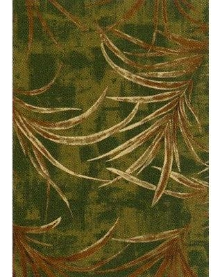 "Bay Isle Home Christopher Rain Forest Deep Olive Green Area Rug W001255637 Rug Size: Rectangle 2'1"" x 7'8"""