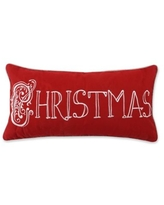 Find The Best Deals On Shellenbarger Merry Christmas Poly Linen Embroidered Velvet Throw Pillow Loon Peak