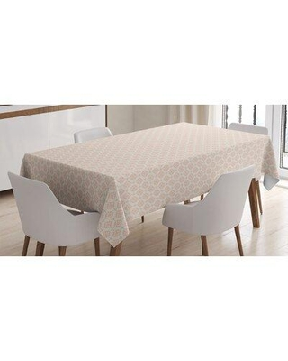 East Urban Home Big and Little Graphic Flower Motifs SymmetricTablecloth FCLQ7086
