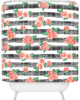 Watercolor Shower Curtain Red - Deny Designs