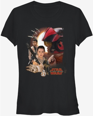Star Wars Episode VII The Force Awakens Characters Girls T-Shirt