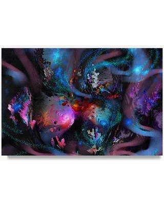"""Trademark Art 'Shell 3' Graphic Art Print on Wrapped Canvas ALI21585-C Size: 12"""" H x 19"""" W"""