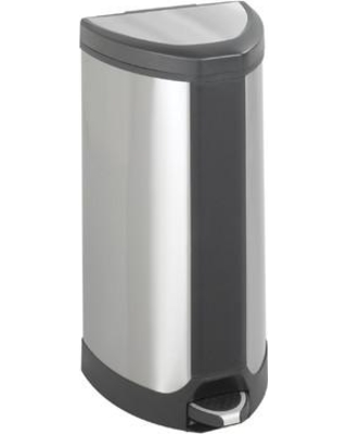 Safco Products Receptacle 10 Gallon Step On Trash Can 9687SS