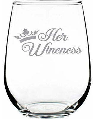a761e4bfdd1 BIG Deal on Her Wineness - Cute Funny Stemless Wine Glass, Large 17 ...