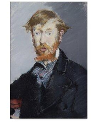"""Vault W Artwork 'George Moore' by Edouard Manet Oil Painting Print on Wrapped Canvas X114382333 Size: 32"""" H x 22"""" W x 2"""" D"""