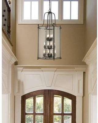 Darby Home Co Lucah 12 - Light Lantern Tiered Pendant DRBH4879 Finish: Bronze