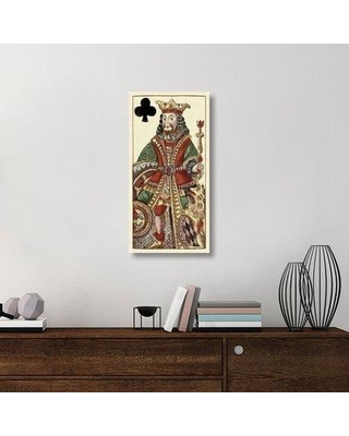 """East Urban Home 'King of Clubs Bauern Hochzeit Deck' Acrylic Painting Print on Canvas ETUC6374 Size: 36"""" H x 18"""" W x 1.5"""" D"""