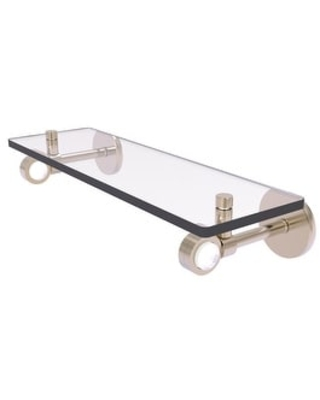 Allied Brass Clearview Collection Glass Shelf (Antique Pewter - 16 Inch)