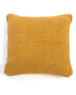 Gracie Oaks Aon Knitted Throw Pillow W001814554 Color: Mustard