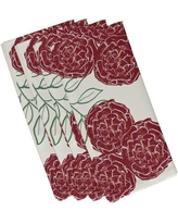 """August Grove Airelle Floral Napkin ATGR8098 Size: 19""""W x 19""""L Color: Ivory / Rust"""