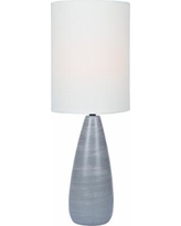 "Quatro 26 1/2""H Gray Modern Table Lamp with White Shade"