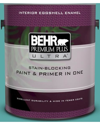 Find The Best Deals On Behr Ultra 1 Gal 500d 5 Teal Zeal Extra Durable Eggshell Enamel Interior Paint And Primer In One