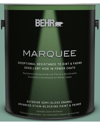 BEHR MARQUEE 1 gal. #470F-4 Aspen Aura Semi-Gloss Enamel Exterior Paint and Primer in One