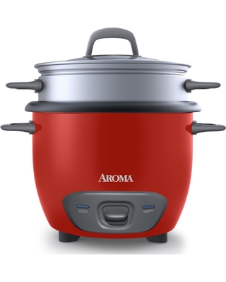 Aroma 14 Cup Pot-Style Rice Cooker and Food Steamer - Arc-747-1NG, Red