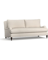 "Carlisle Upholstered Sofa 80"" with Bench Cushion,, Polyester Wrapped Cushions, Performance Twill Stone"