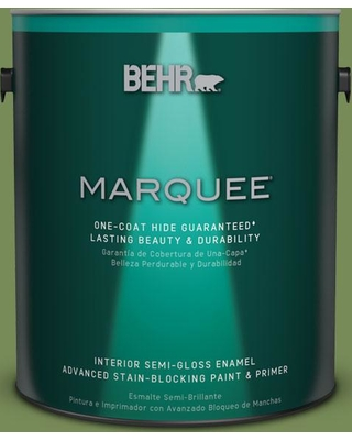 BEHR MARQUEE 1 gal. #MQ6-52 Lucky Clover One-Coat Hide Semi-Gloss Enamel Interior Paint and Primer in One