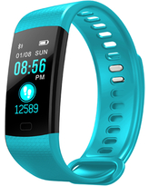 Fitness Tracker HR,fitness tracker with blood pressure monitor, Smart Fitness Band with Step Counter, Calorie Counter, Pedometer color screen(TURQUOISE)