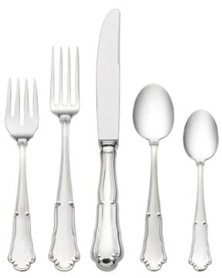 Barocco 5 Piece Sterling Silver Flatware Set, Service for 1 Wallace