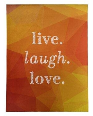 East Urban Home Faux Gemstone Live Laugh Love Quote Poly Chenille Rug FCLS5788 Rug Size: Rectangle 5' x 7'