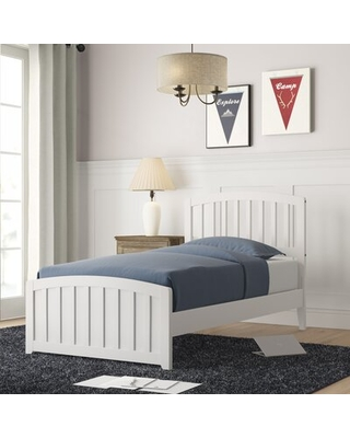 Amina Standard Bed Grovelane Bed Frame Color: White, Size: Twin