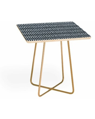 Cross Legs End Table East Urban Home Table Top Color: Blue