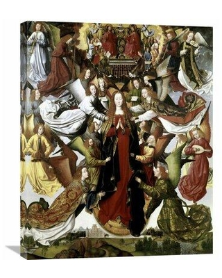 Global Gallery 'Mary Queen of Heaven - The St. Lucy Legend' by Master of the St. Lucy Legend Painting Print on Wrapped Canvas in Red/Brown/White