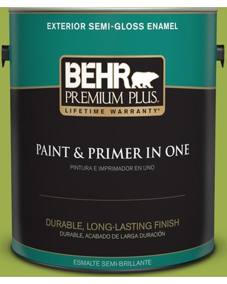 BEHR Premium Plus 1 gal. #PPU10-05 Intoxication Semi-Gloss Enamel Exterior Paint and Primer in One