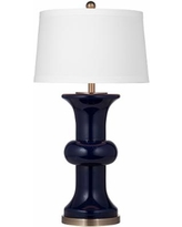 Vince Navy Blue Glass Table Lamp