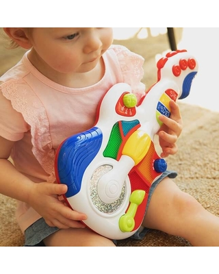 Rockin' Light Up Guitar - Baby Toys & Gifts for Ages 1 to 2 - Fat Brain Toys