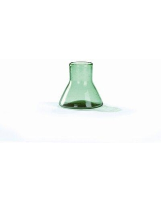 """Highland Dunes Saybrook Cantel Glass Small Top Table Vase, Glass in Green, Size 5.9"""" L x 5.9"""" W x 6.3"""" H 