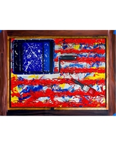 'American Paint' by Roderick Stevens Ready to Hang Canvas Wall Art, Multi-Colored