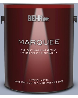 BEHR MARQUEE 1 gal. #ICC-55 Hydrangea Blossom Matte Interior Paint and Primer in One