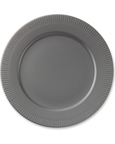 Eclectique Dinner Plates, Set of 4, Steel Grey