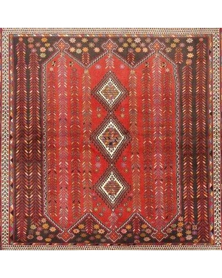 Bloomsbury Market San Pe Traditional Brown/Beige/Red Area Rug W001474005 Rug Size: Square 4'