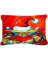 The Holiday Aisle Crab in Santa Hat Santa Claws Indoor/Outdoor Throw Pillow THLA3758