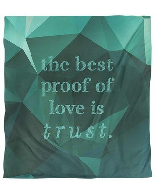East Urban Home Love & Trust Quote Single Duvet Cover FCLK5638 Size: King Duvet Cover Color: Emerald Green