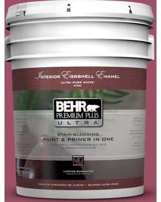 BEHR Premium Plus Ultra 5 gal. #110D-5 Mission Wildflower Eggshell Enamel Interior Paint and Primer in One